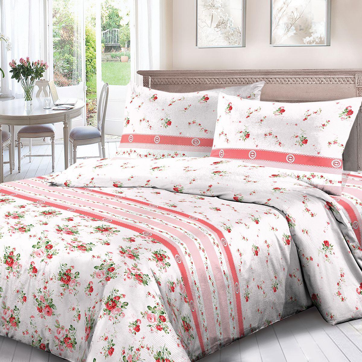 Комплект белья Для Снов Мирабель, семейный, наволочки 70x70, цвет: розовый. 3668-182007