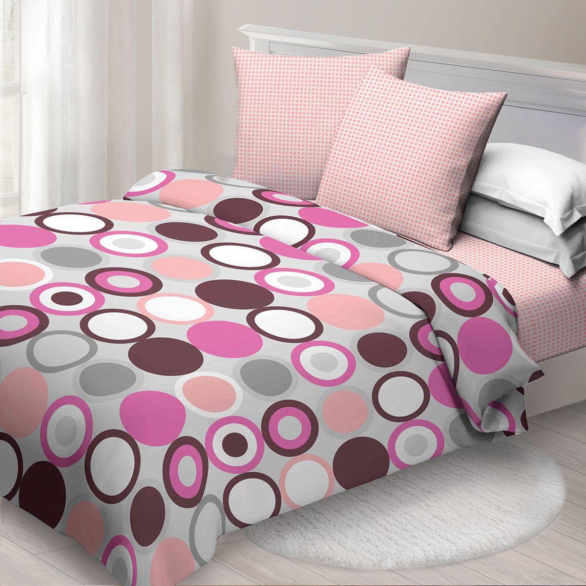 Комплект белья Спал Спалыч Ронди, 2-х спальное, наволочки 70x70, цвет: бордовый. 4083-1 комплект белья спал спалыч доброе утро 1 5 спальное наволочки 70x70 цвет розовый