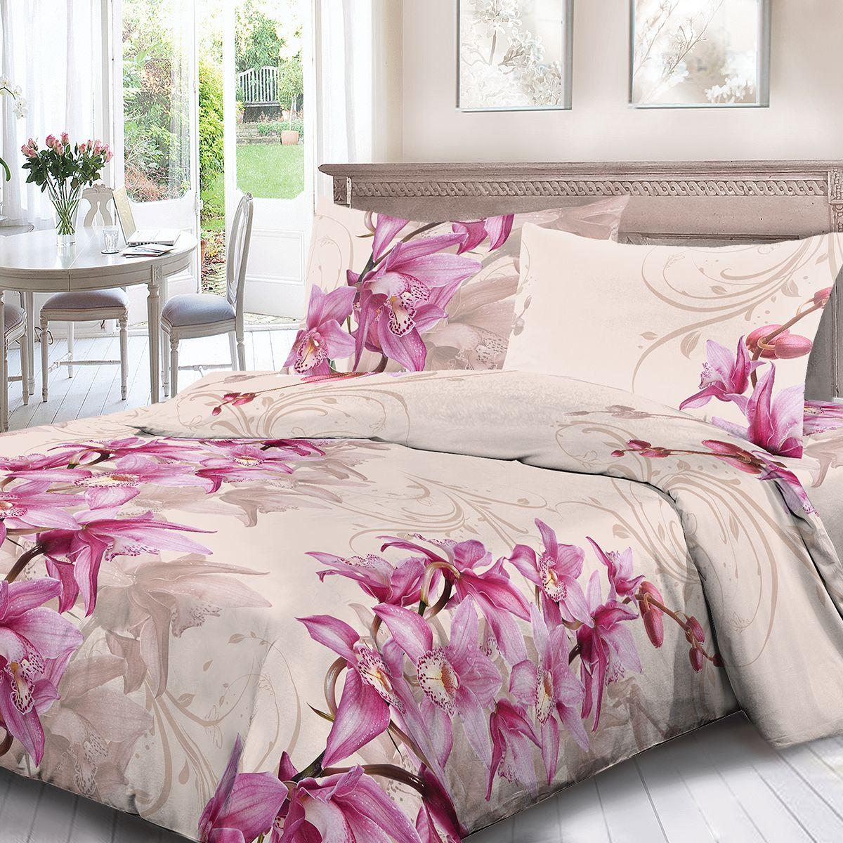 Комплект белья Для Снов Магдалина, 1,5 спальное, наволочки 70x70, цвет: кремовый. 4068-184453