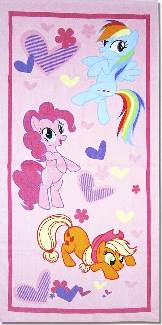 НВ Полотенце детское Пони цвет розовый 60 x 120 см 1091_02