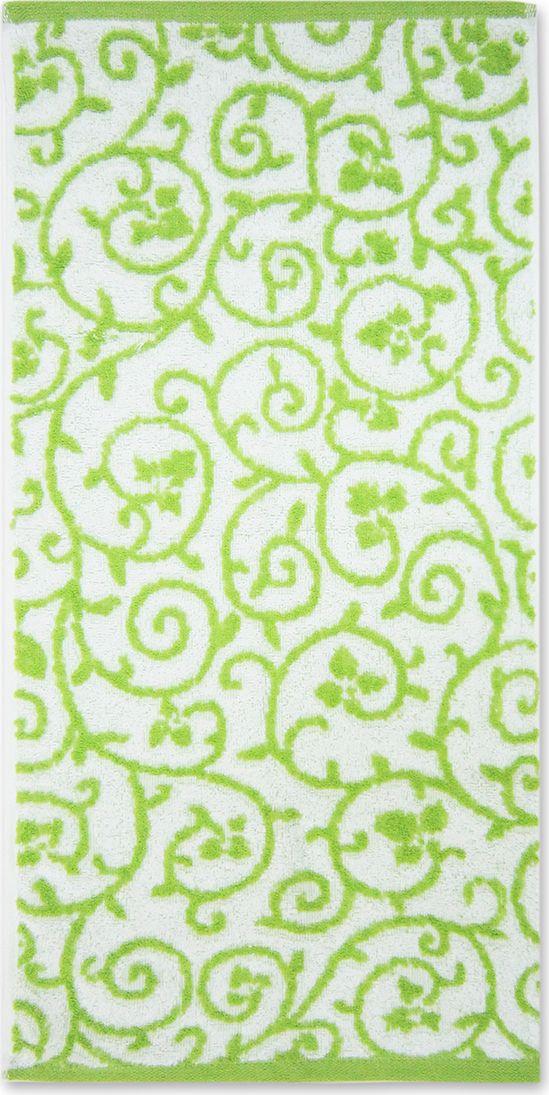 Полотенце махровое Bravo Верона, цвет: зеленый, белый, 45 х 90 см полотенце махровое bravo венеция цвет розовый белый 50 х 90 см