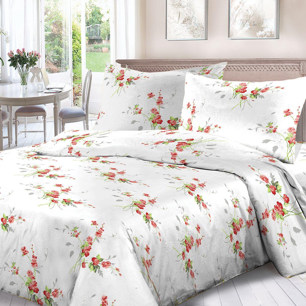 Комплект белья Для Снов Амброзия, 2-х спальное, наволочки 70x70, цвет: белый. 1536-287329