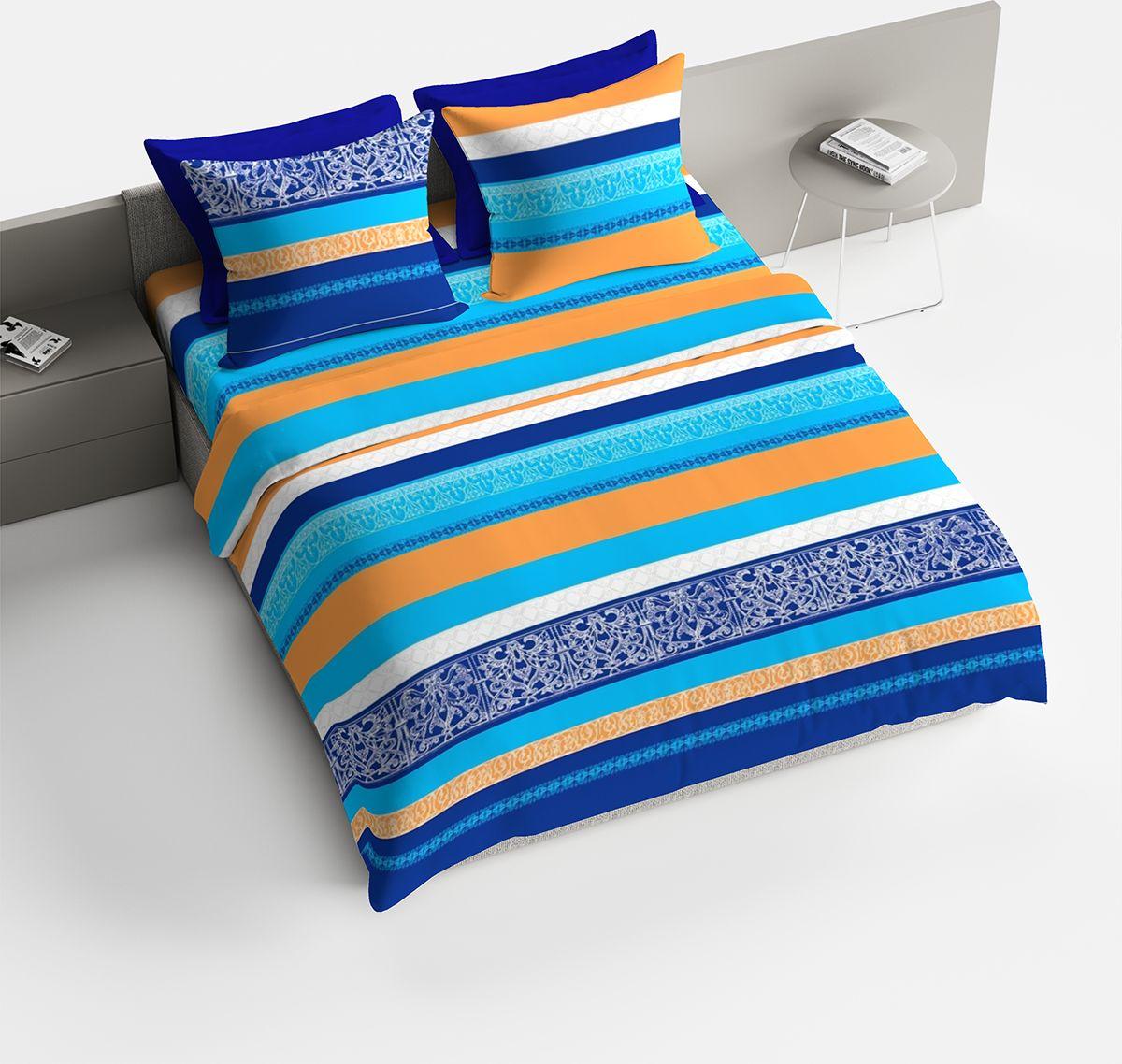 Комплект белья Браво Гретхен, 1,5-спальный, наволочки 70x70, цвет: синий6221МПостельное белье коллекции Bravo изготавливается из ткани Lux Cotton (высококачественный импортный поплин), сотканной из длинноволокнистого египетского хлопка, создано специально для людей с оригинальным вкусом, предпочитающим современные решения в интерьере. В процессе производства применяются только стойкие и экологически чистые красители, поэтому это белье можно использовать и для детей. Обновленная стильная упаковка делает этот комплект отличным подарком.