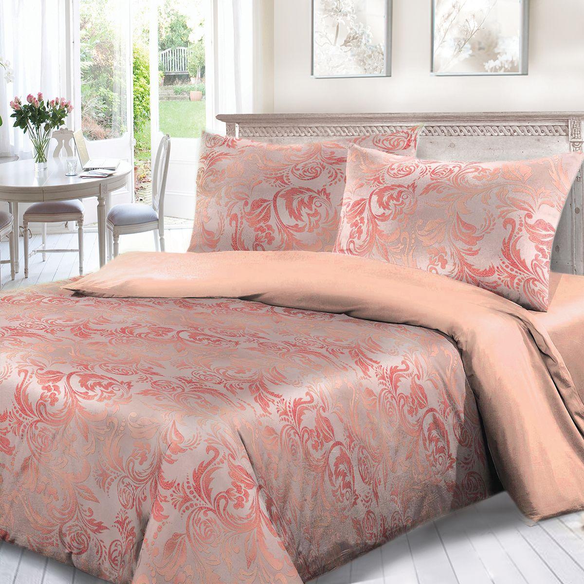 Комплект белья Сорренто Мажор, 1,5 спальное, наволочки 70x70, цвет: розовый. 3963-187887