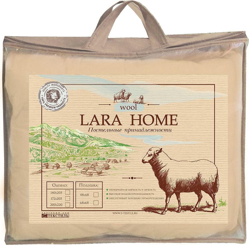 Одеяло Lara Home Wool, всесезонное, цвет: белый, 172 х 205 см531-105Наполнитель: пласт овечья шерсть +силиконизированное волокно