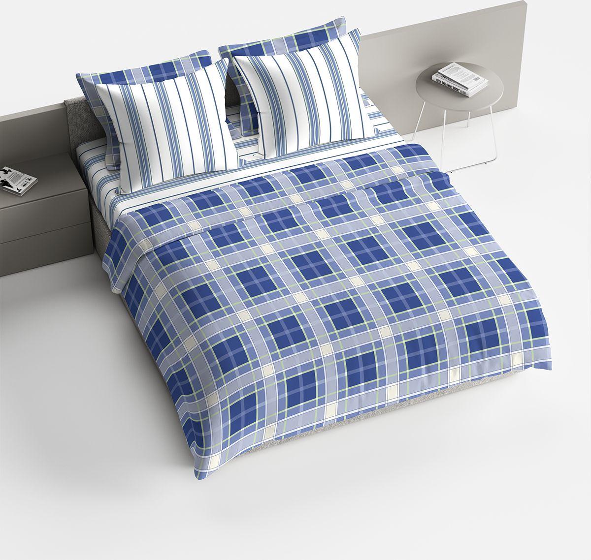 Комплект белья Браво Джузеппе, 1,5-спальное, наволочки 70x70, цвет: синий391602Комплекты постельного белья из ткани LUX COTTON (высококачественный поплин), сотканной из длинноволокнистого египетского хлопка, созданы специально для людей с оригинальным вкусом, предпочитающим современные решения в интерьере. Обновленная стильная упаковка делает этот комплект отличным подарком. • Равноплотная ткань из 100% хлопка;• Обработана по технологии мерсеризации и санфоризации;• Мягкая и нежная на ощупь;• Устойчива к трению;• Обладает высокими показателями гигроскопичности (впитывает влагу);• Выдерживает частые стирки, сохраняя первоначальные цвет, форму и размеры;• Безопасные красители ведущего немецкого производителя BEZEMA