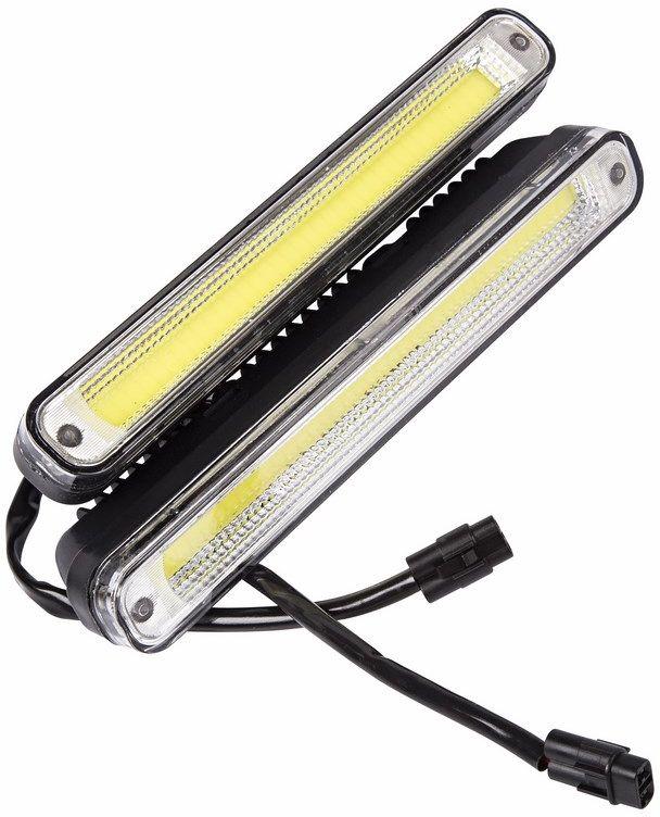 Дневные ходовые огни Lamper, 20 Вт112825Рабочее напряжение: 8-16 В Потребляемая мощность: 20 Вт Продолжительность работы: до 50 000 часов Температура работы: от -40°C до +85°CПластиковый корпус.Размеры: 200х50х40.