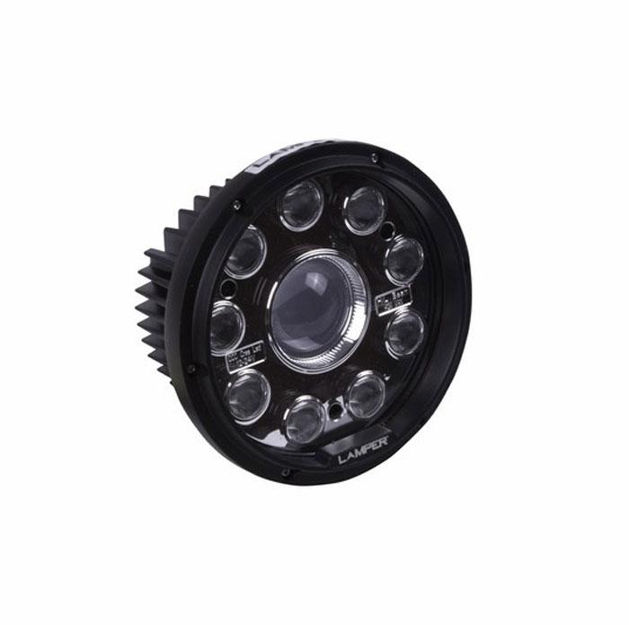 Фара автомобильная Lamper, светодиодная, 42 WS03301004Напряжение: 12-36 ВольтМощность одного светодиода: 42WМодель светодиода: CREEКол-во светодиодов: 9+1 шт.Световой поток: 3800 Люмен Температура свечения: 5500 Кельвинов Рабочий ток при 12/24V: 2,5/1,25A Световой поток: комбинированный. Подключение: водонепроницаемый разъём 2pin Крепление: болт 10ммВиброустойчивость: 10-2000HzЛинзы: ударопрорчный поликарбонат Корпус: алюминиевый сплавРазмеры: 144 x 184 x 87 Пыле-влагозащищенность: IP-68 (6-полная защита от пыли,8K-полная защита от воды,выдерживает высокое давление воды во время мойки) Рабочая температура: от -40С до +105С Срок службы: 50 000 часов
