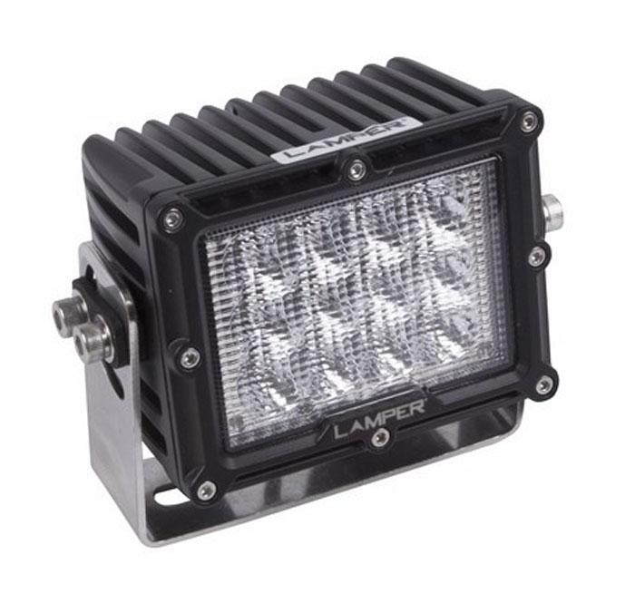 Фара автомобильная Lamper, светодиодная, 60 WS03301004Напряжение: 9-48 ВольтМощность: 60WМодель светодиода: CREEКол-во светодиодов: 12 шт. Световой поток: 3600 ЛюменТемпература свечения: 5500 КельвиновРабочий ток при 12/24V: 2,5/1,25AСветовой поток: рассеянныйПодключение: водонепроницаемый разъём 2pinКрепление: болт 10ммВиброустойчивость: 10-2000HzЛинзы: ударопрорчный поликарбонатКорпус: алюминиевый сплавРазмеры: 135 x 89 x 105Пыле-влагозащищенность: IP-67 (6-полная защита от пыли,8K-полная защита от воды, выдерживает высокое давление воды во время мойки) Рабочая температура: от -40С до +105ССрок службы: 50 000 часов