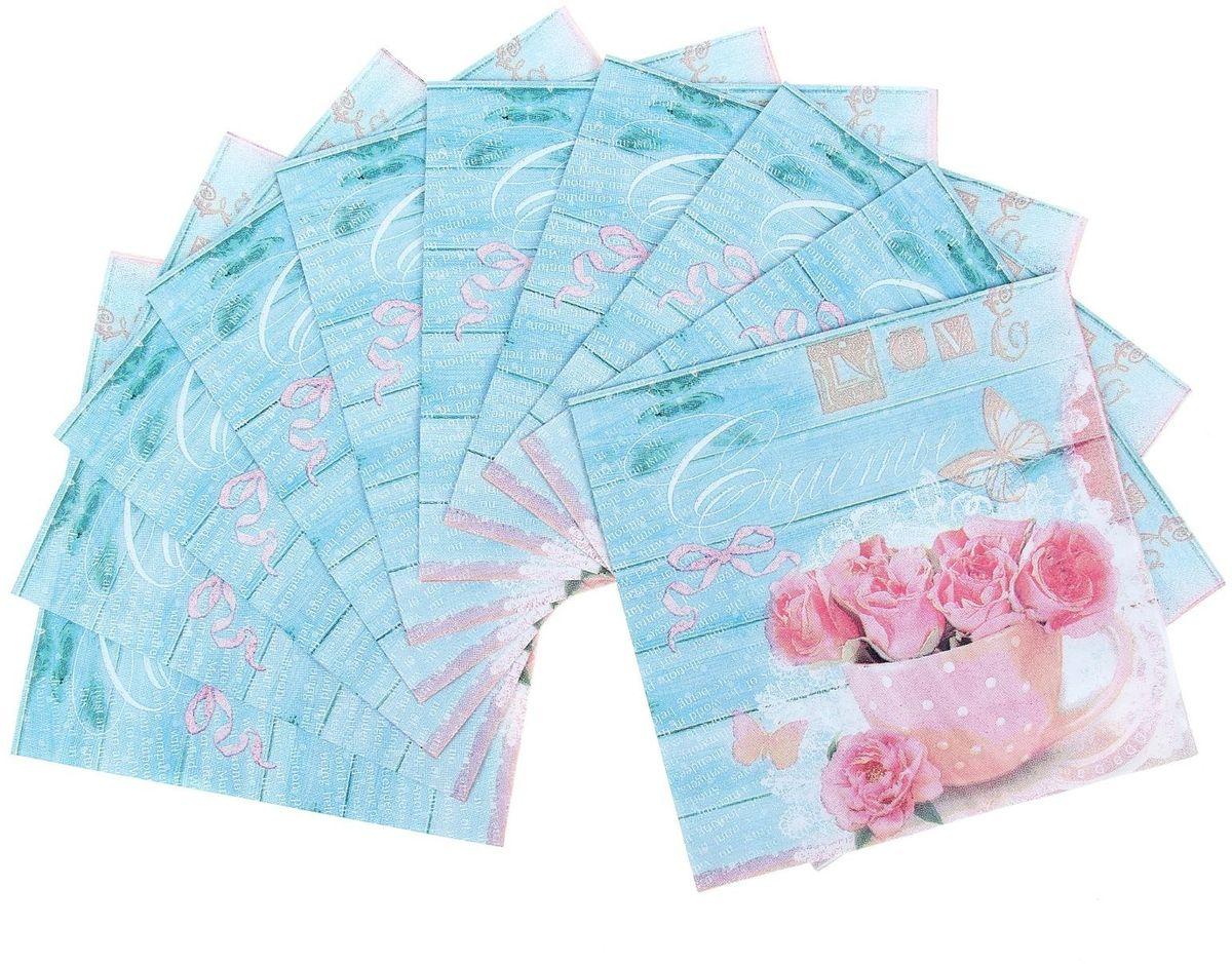 Набор салфеток для декупажа Арт Узор Шебби, 33 х 33 см, 10 штRSP-202SНабор салфеток для декупажа изготовлен из тонкой, но качественной бумаги. Легко приклеится к основе и сохранит при этом насыщенность красок и четкость линий.Создавайте свои уникальные шедевры!