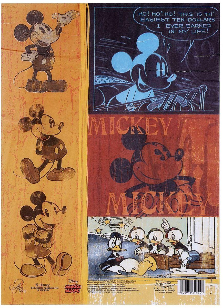 Декупажная карта Disney Классический Микки Маус, 21 х 29,7 см1131144Создавайте шедевры своими руками!С помощью декупажной карты можно быстро, просто и стильно украсить любые предметы интерьера, сувениры или подарки, сделав их по-настоящему оригинальными и эксклюзивными. Она отлично подойдёт для декупажа как больших, так и маленьких поверхностей, сохранив при этом свой насыщенный цвет. Дополнительно вам понадобятся только ножницы, кисть и клей (обычный ПВА или специальный для декупажа).Каждый лист аккуратно упакован в индивидуальный пакет с европетлёй, поэтому не повредится при перевозке и хранении.