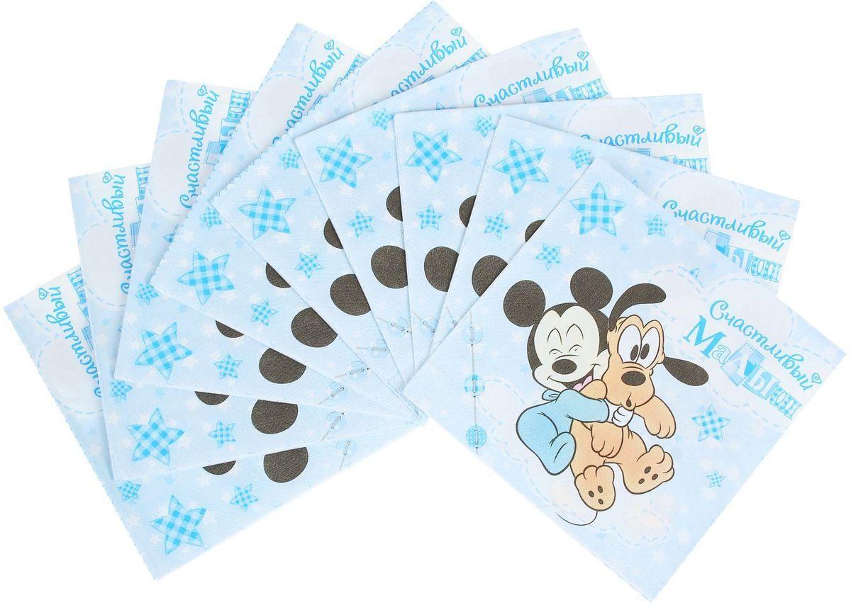Салфетка для декупажа Disney Микки Маус. Счастливый малыш, 33 х 33 см, 10 штNLED-454-9W-BKСалфетка для декупажа изготовлена из тонкой, но качественной бумаги. Легко приклеится к основе и сохранит при этом насыщенность красок и четкость линий.Создавайте свои уникальные шедевры!