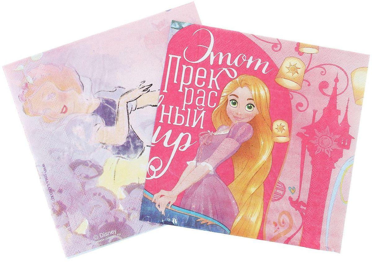 Набор салфеток для декупажа Disney Принцессы. Счастье вокруг нас, 33 х 33 см, 2 штC0042416Набор салфеток для декупажа изготовлен из тонкой, но качественной бумаги. Легко приклеится к основе и сохранит при этом насыщенность красок и четкость линий.Создавайте свои уникальные шедевры!