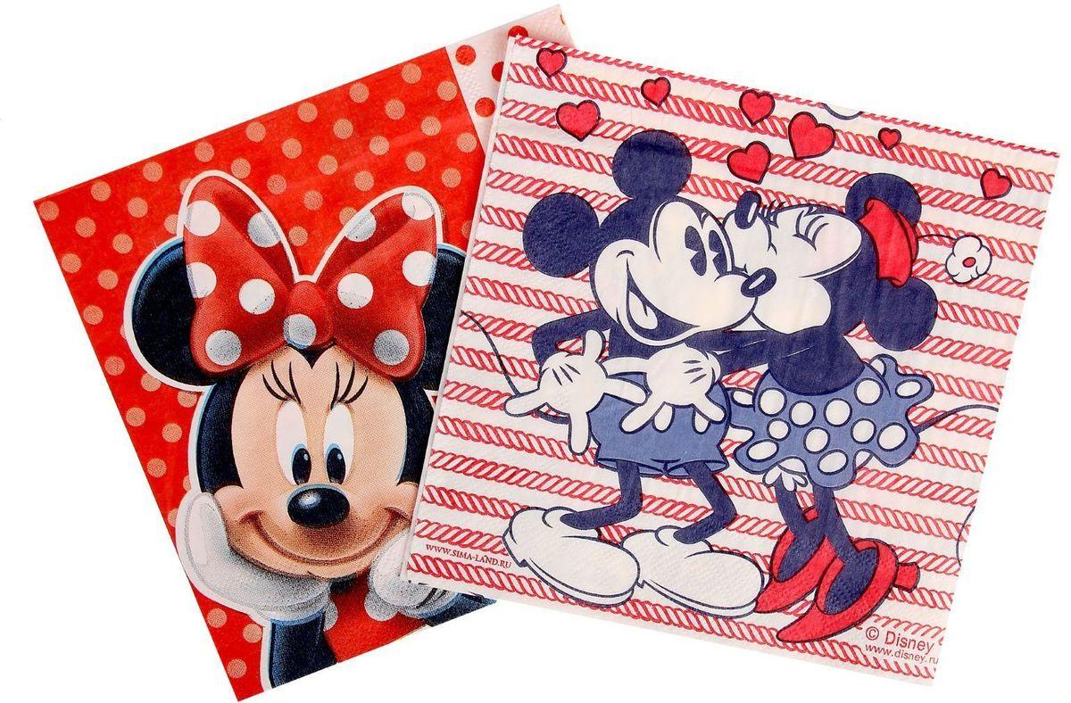 Набор салфеток для декупажа Disney Микки Маус. Океан любви, 33 х 33 см, 2 шт1194231Набор салфеток для декупажа изготовлен из тонкой, но качественной бумаги. Легко приклеится к основе и сохранит при этом насыщенность красок и четкость линий.Создавайте свои уникальные шедевры!