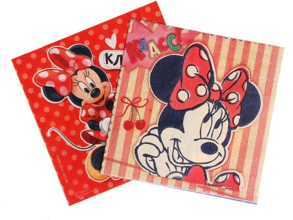 Набор салфеток для декупажа Disney Минни Маус. Милая Минни, 33 х 33 см, 2 шт97775318Набор салфеток для декупажа изготовлен из тонкой, но качественной бумаги. Легко приклеится к основе и сохранит при этом насыщенность красок и четкость линий.Создавайте свои уникальные шедевры!