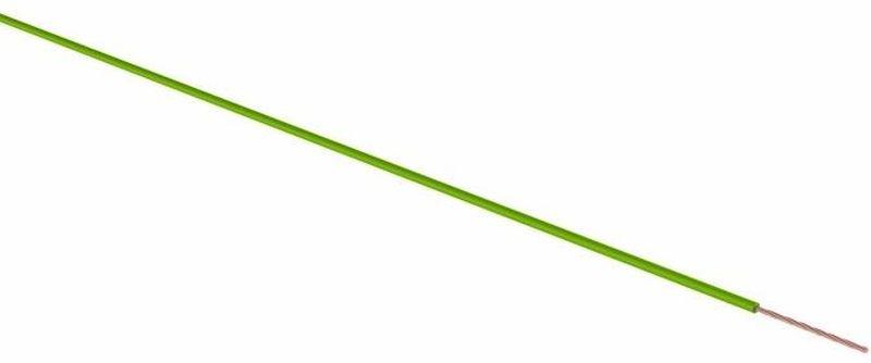 Провод ПГВА Rexant, цвет: зеленый, 1 х 2,5 кв. мм, длина 100 мPM 6705Провод ПГВА REXANT предназначены для гибкого соединения автотракторного электрооборудования и приборов с номинальным напряжением до 48 В, изготавливаются для автомобильной проводки и элементов питания и управления. Состоит из многожильной токопроводящей жилы с поливинилхлоридной изоляцией. Расшифровка провод ПГВА - П - Провод, Г - Гибкий, В - Изоляция из поливинилхлоридного пластиката, А - Автотракторный. Технические характеристики:- номинальное напряжение - до 48 В- электрическое сопротивление изоляции на длине 1 км - не менее 3,0 мОм- изоляция жилы из ПВХ пластиката- расцветка провода имеет сплошную расцветку- класс гибкости 3- минимальный радиус изгиба, не менее 10-кратного значения минимального размера провода- предельно допустимая рабочая температура -50°С до + 70°С- срок службы до 15 лет