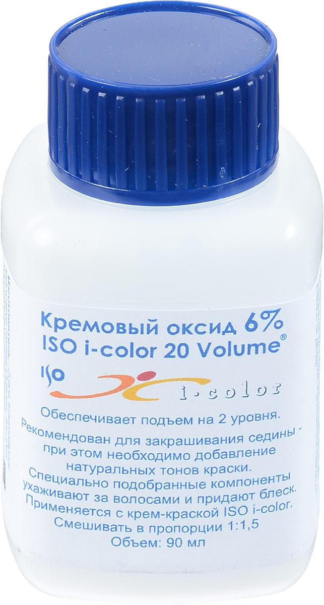 ISO Оксид 6% I.Color 20 Volume -, 90 мл6119Обеспечивает подъем на 2 уровня. Рекомендован для закрашивания седины. При этом необходимо добавление натуральных тонов краски ISO i.Color. Специально подобранные компоненты кремового оксида ухаживают за волосами и придают блеск.