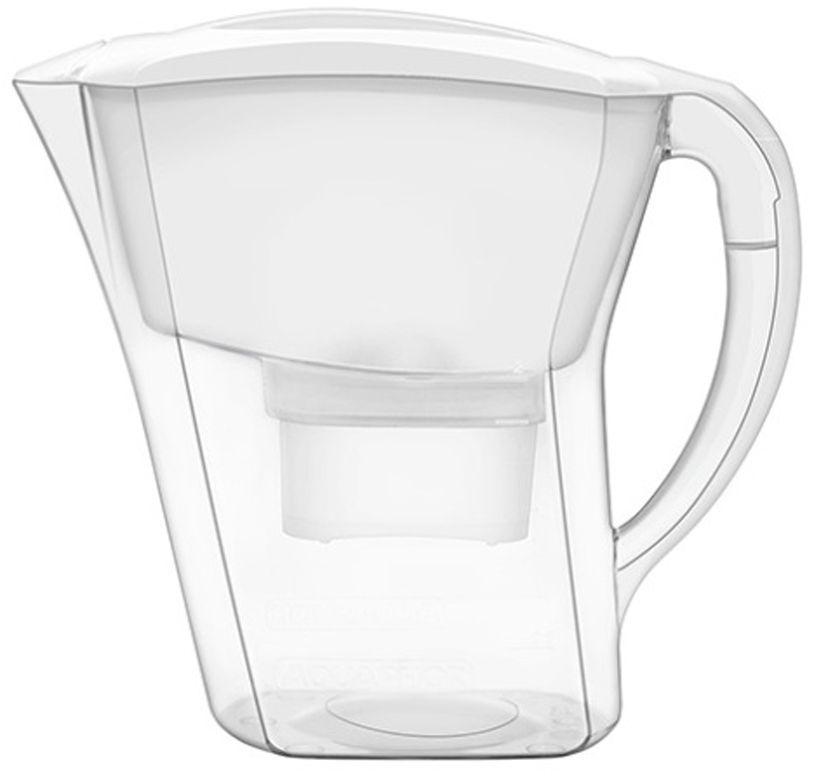 Фильтр-кувшин для воды Аквафор Агат, цвет: белый, прозрачный, 3,8 лВетерок 2ГФПрактичный и удобный фильтр-кувшин Аквафор Агат очищает питьевую воду от активного хлора, тяжелых металлов и других опасных примесей, встречающихся в водопроводной воде.Корпус фильтра и фильтрующий сменный модуль изготовлены из высококачественного пластика. Изделие снабжено удобной ручкой.Такой кувшин фильтрует 1,7 литра воды за 1 применение и накапливает 3,8 литра очищенной воды. Вам не придется наполнять кувшин несколько раз и долго ждать, чтобы приготовить ужин или сделать чай для гостей.В комплекте имеется универсальный сменный модуль B 100-25.