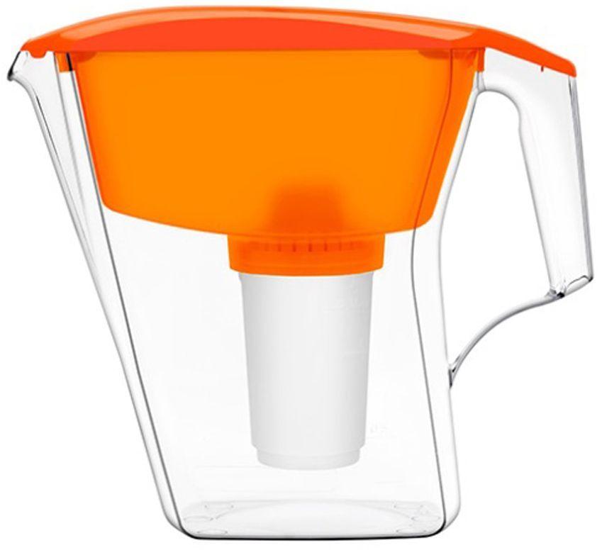 Фильтр-кувшин для воды Аквафор Арт, цвет: оранжевый, прозрачный, 2,8 лМодуль сменный фильтрующий Аквафор А5Фильтр-кувшин Аквафор Арт надежно и необратимо удаляет вредные примеси из питьевой воды. Изделие изготовлено из высококачественного пищевого пластика и снабжено удобной ручкой. В комплекте имеется универсальный сменный модуль В (В 100-5). Также к фильтру-кувшину подходят и другие сменные модули Аквафор: - В6 (В100-6) - сменный модуль для жесткой воды;- В7 (В100-7) - сменный модуль, сохраняющий исходный минеральный состав воды;- В8 (В100-8) - сменный модуль для чрезмерно хлорированной воды.
