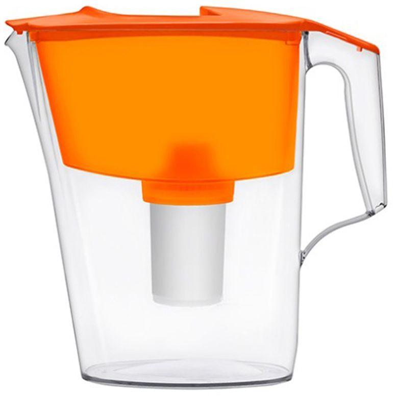 Фильтр-кувшин для воды Аквафор Стандарт, цвет: оранжевый, прозрачный, 2,5 лFD 992Миниатюрный, но функциональный фильтр-кувшин Аквафор Стандарт, изготовленный из высококачественного пищевого пластика, идеально подойдет для малогабаритной кухни. Фильтрующий модуль эффективно и необратимо удаляет органические соединения, хлор и другие загрязнители воды. В комплекте имеется универсальный сменный модуль В15 (В 100-15). Также к фильтру-кувшину подходит сменный модуль Аквафор В16 (В 100-16) - для жесткой воды.
