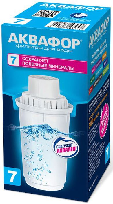 Модуль сменный Аквафор В 100-7, для мягкой водыИС.230048Сменный модуль Аквафор В 100-7, предназначенный для фильтра-кувшина, очищает воду от посторонних привкусов, запахов, хлора и его соединений, сохраняя исходный минеральный состав воды. Используется в кувшинах Аквафор c круглым гнездом посадки модуля диаметром: 7 см.
