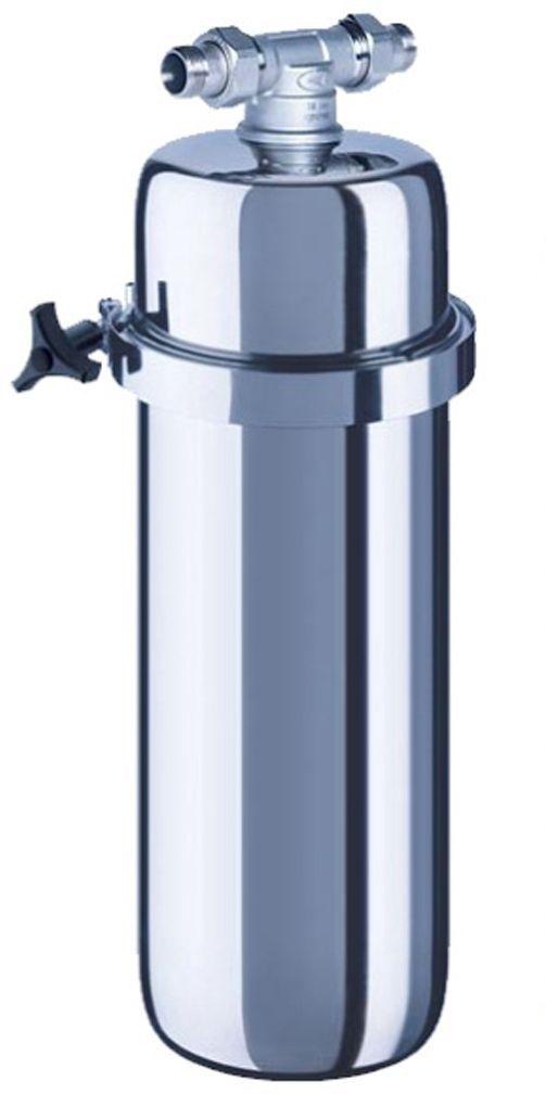 Корпус водоочистителя Аквафор ВИКИНГФильтр для воды Аквафор Викинг корпусВы можете адаптировать фильтр для очистки холодной, горячей или питьевой водыЕдинственный магистральный фильтр, очищающий всю воду в квартире не только от ржавчины, песка и других нерастворимых примесей, но и от активного хлора, органических веществ, тяжелых металлов, и неприятного запаха. Корпус и кронштейн выполнены из нержавеющей стали и обеспечивают легкую установку фильтра и замену фильтрующего модуля.С корпусом могут использоваться сменные модули:B520-13 – сменный модуль для холодной водыB520-14 – сменный модуль для горячей водыB150-Plus – cменный модуль для доочистки питьевой воды