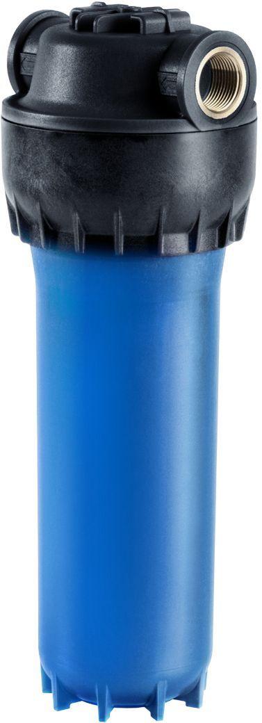 Предфильтр Аквафор, для холодной воды, соединение 1/2, размер 10 SLIMФильтр для воды Корпус предфильтра для холодной воды армированныйКорпус армированный Аквафор для холодной воды с латунными вставкамиБлагодаря латунным вставкам полностью исключается возникновение напряжений в соединении корпус-штуцер (в отличие от предфильтров с пластиковыми резьбовым гнездом в крышке корпуса). При закручивании же в пластиковое гнездо штуцера с уплотнением лентой ФУМ или льном возникают напряжения растяжения, которые могут привести к разрушению корпуса.Для высокого качества очистки воды рекомендуется использовать сменные фильтрующие модули Аквафор международного стандарта 10 Slim Line.Корпус предфильтра может быть укомплектован картриджем пористостью 5 (ЭФГ 63/250-5 С) или 20 микрон (ЭФГ 63/250-20 С)Очищая воду от взвесей, он облегчает работу фильтра питьевой воды, защищает бытовую технику от поломок, делает прием ванны или душа более приятным.