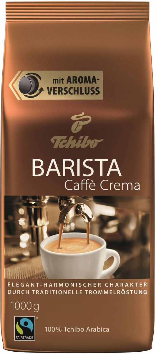 Tchibo Barista Caffe Crema кофе в зернах, 1 кг481595Изысканные сорта Арабики из Бразилии и высокогорных районов Латинской Америки.
