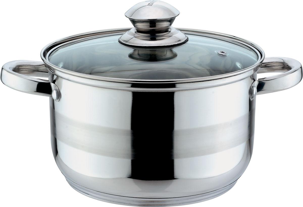Кастрюля Bekker Jumbo, с крышкой, 3,6 л94672Кастрюля объемом 3,6 л (20 см), крышка стеклянная, ручки из нержавеющей стали, капсулированное дно, мерная шкала на внутренней стенке, поверхность зеркальная с матовой полосой. Подходит для индукционных плит и чистки в посудомоечной машине. Состав: нержавеющая сталь.