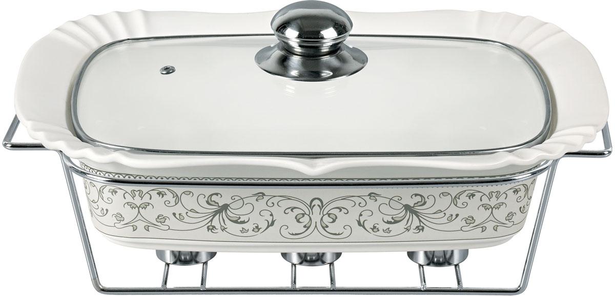 Мармит Bekker, с крышкой, на подставке. BK-7360VT-1520(SR)Кастрюля: 1,4 л (29,2 х 22 см), крышка стеклянная с ручкой из нержавеющей стали, подставка металлическая. Состав: жаропрочная керамика. Предназначен для сохранения пищи в подогретом виде.