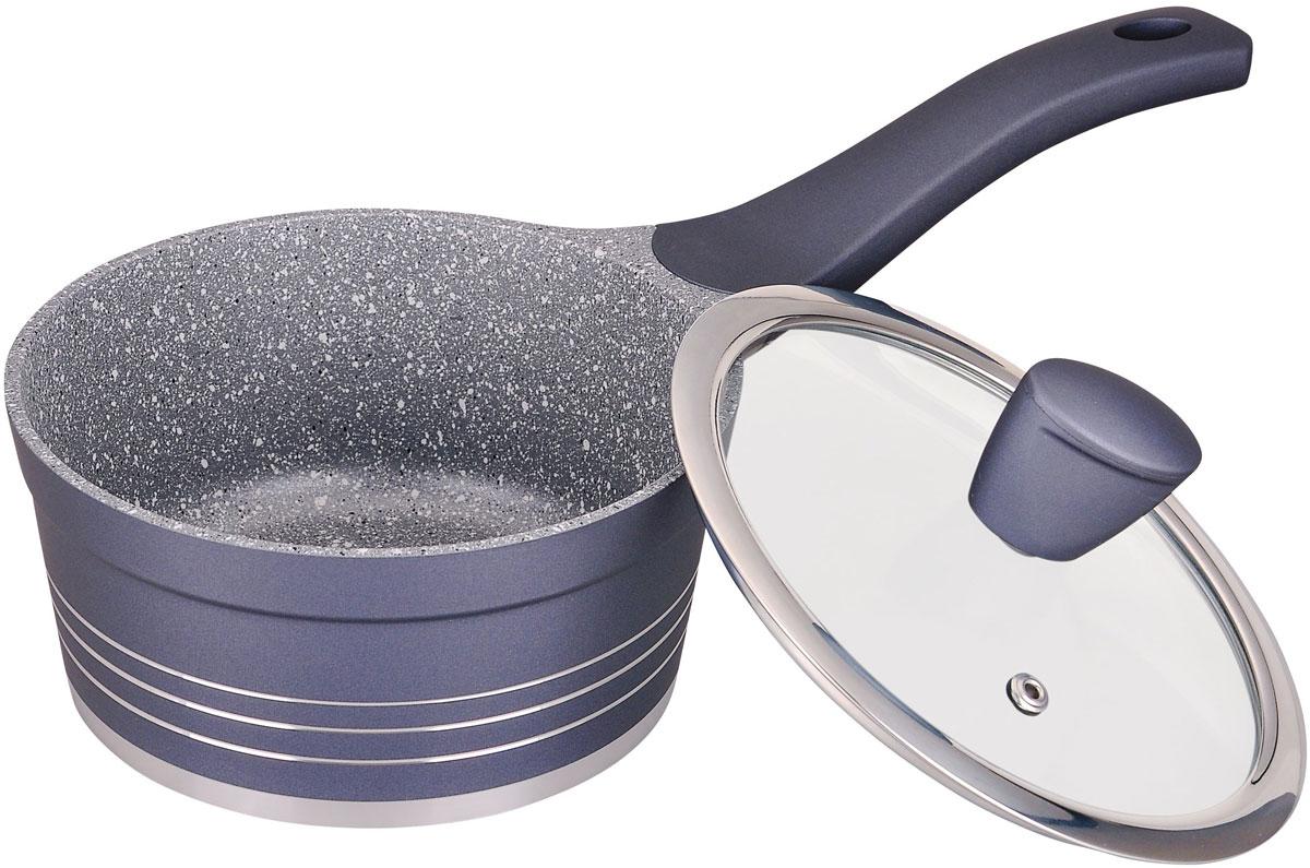 Ковш Winner Marble coating, с крышкой, с антипригарным мраморным покрытием, 1,2 л. WR-146354 009312Ковш 1,2 л / 16 см, толщина стенки - 2,3 мм, дна - 4,5 мм. Покрытие: внутри - антипригарное мраморное серое, снаружи - жаростойкое лаковое цветное. Ручки бакелитовые с покрытием Soft Touch. Крышка стеклянная. Подходит для индукционных плит и чистки в посудомоечной машине. Состав: литой алюминий.