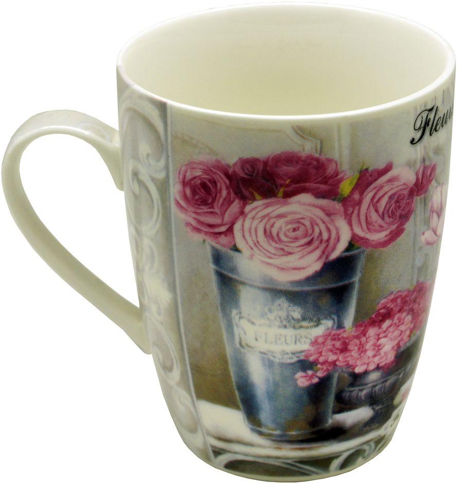 Кружка GiftnHome Парижские цветы, 350 мл115610Чашка из фарфора, подарочная упаковка- картон