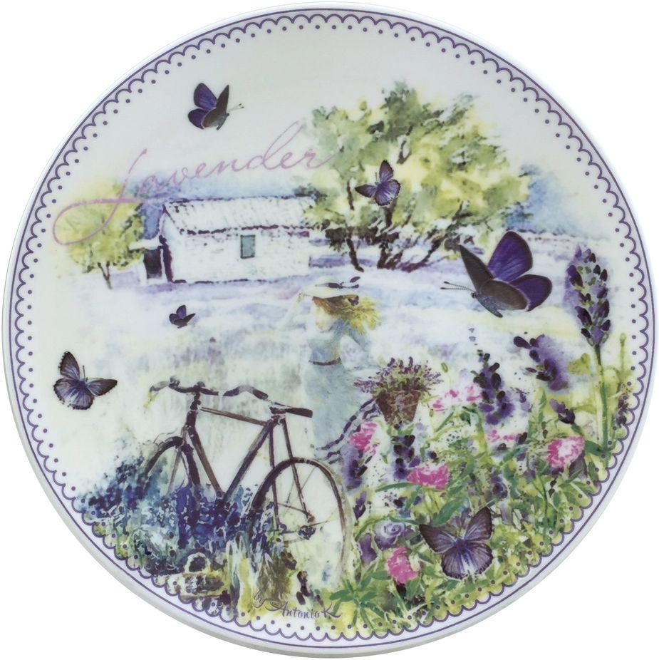 Набор тарелок GiftnHome Лаванда, диаметр 20,5 см, 4 шт54 009312Набор GiftnHome Лаванда состоит из 4 тарелок. Они изготовлены из костяного фарфора.Тарелки прекрасно подходят для сервировки стола и подачи различных блюд. Такие тарелки отлично впишутся в интерьер вашей кухни и станут достойным дополнением к кухонному инвентарю.
