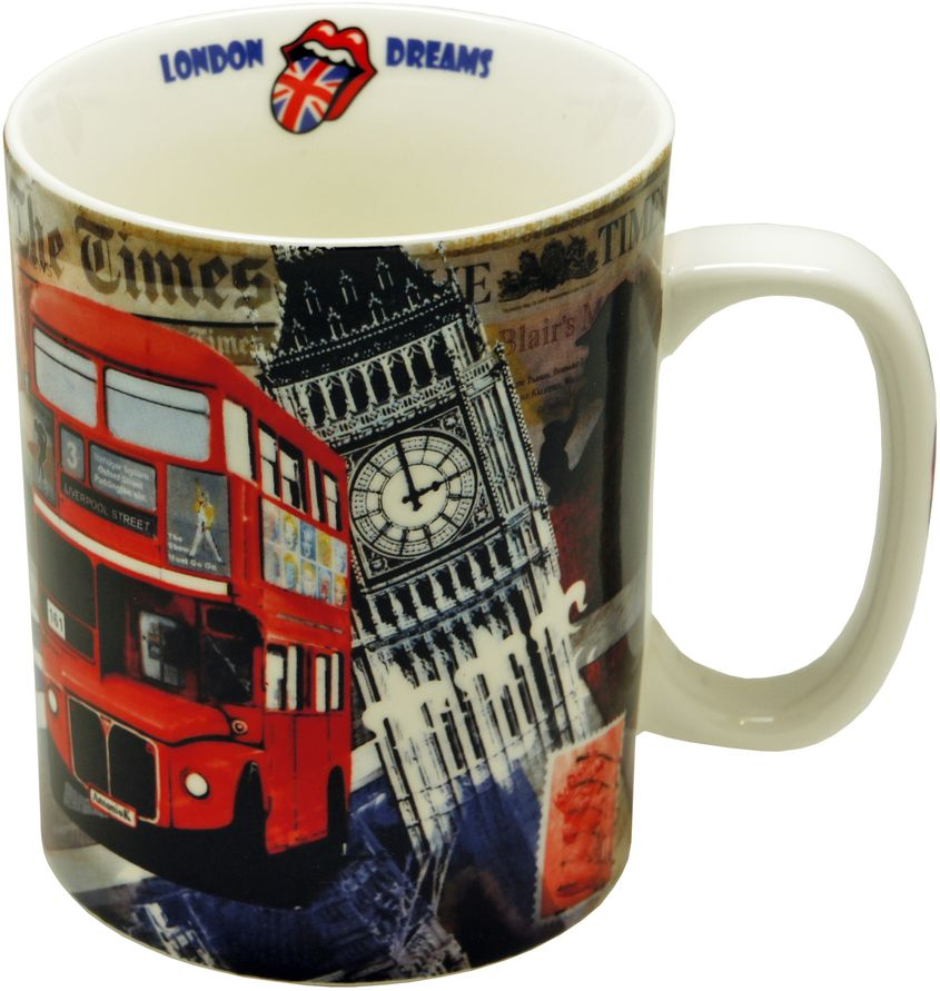 Кружка GiftnHome Лондонские фантазии, 700 мл54 009312Кружка из костяного фарфора, в подарочной упаковке