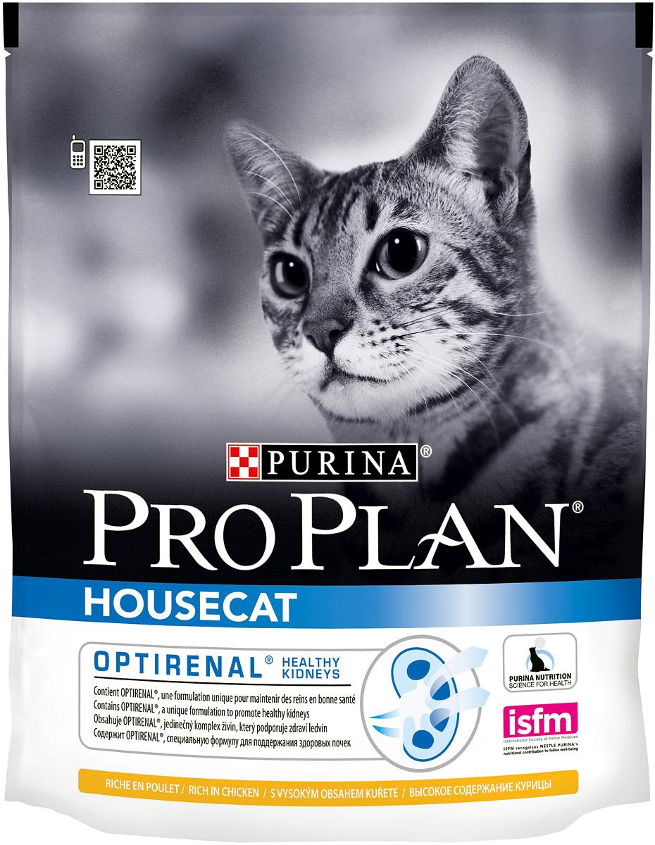 Корм сухой Pro Plan House Cat для взрослых кошек, живущих в помещении, с курицей, 400 г0120710Сухой корм Pro Plan House Cat - это полноценный рацион для взрослых кошек живущих в помещении. Он содержит особую разработанную с участием ученых комбинацию ингредиентов для поддержания здоровья вашего питомца в течение продолжительного времени. Особенности сухого корма: содержит уникальную формулу для поддержания здоровья почек,контролирует процесс образования комков шерсти и способствует мягкому продвижению шерсти по пищеварительному тракту,обеспечивает здоровое переваривание и продвижение пищи по желудочно-кишечному тракту,помогает восстановлению здоровья желудочно-кишечного тракта.Состав: курица (20%), кукурузный глютен, сухой белок птицы, рис, кукуруза, сухая мякоть свеклы, животный жир, сухой корень цикория (2%), яичный порошок, минеральные вещества, концентрат горохового белка, пшеничный глютен, рыбий жир, вкусоароматическая кормовая добавка, дрожжи, натуральный пребиотик. Анализ: белок: 36%, жир: 14%, сырая зола: 7%, сырая клетчатка: 5%.Добавки на кг: витамин А: 32 600; витамин D3: 1060; витамин Е: 720 мг/кг; железо: 60; йод: 1,9; медь: 11; марганец: 15; цинк: 140; селен: 0,12 мг/кг.Товар сертифицирован.