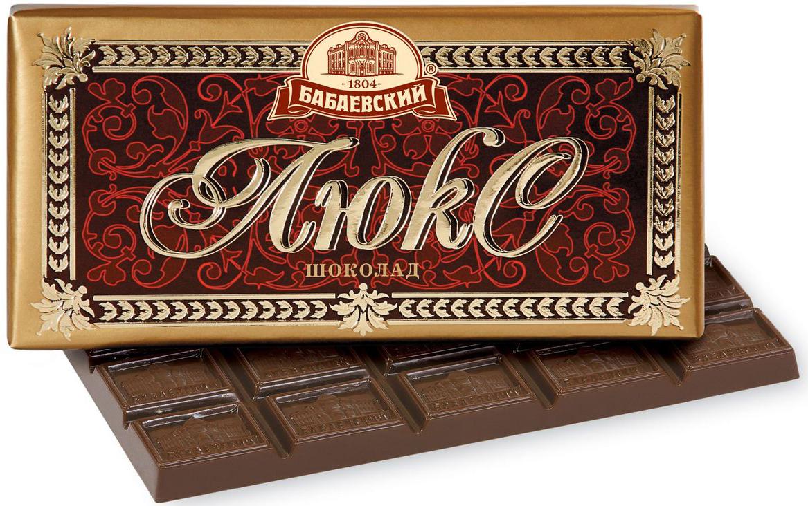 Бабаевский Люкс темный шоколад, 100 г0120710Гордость бренда Бабаевский - высококачественный темный шоколад, созданный с использованием отборных какао бобов и какао масла.