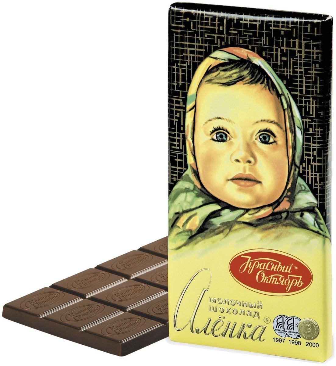 Красный Октябрь Аленка молочный шоколад, 100 гКО01174Знаменитый шоколад Алёнка выпускается кондитерской фабрикой Красный Октябрь.