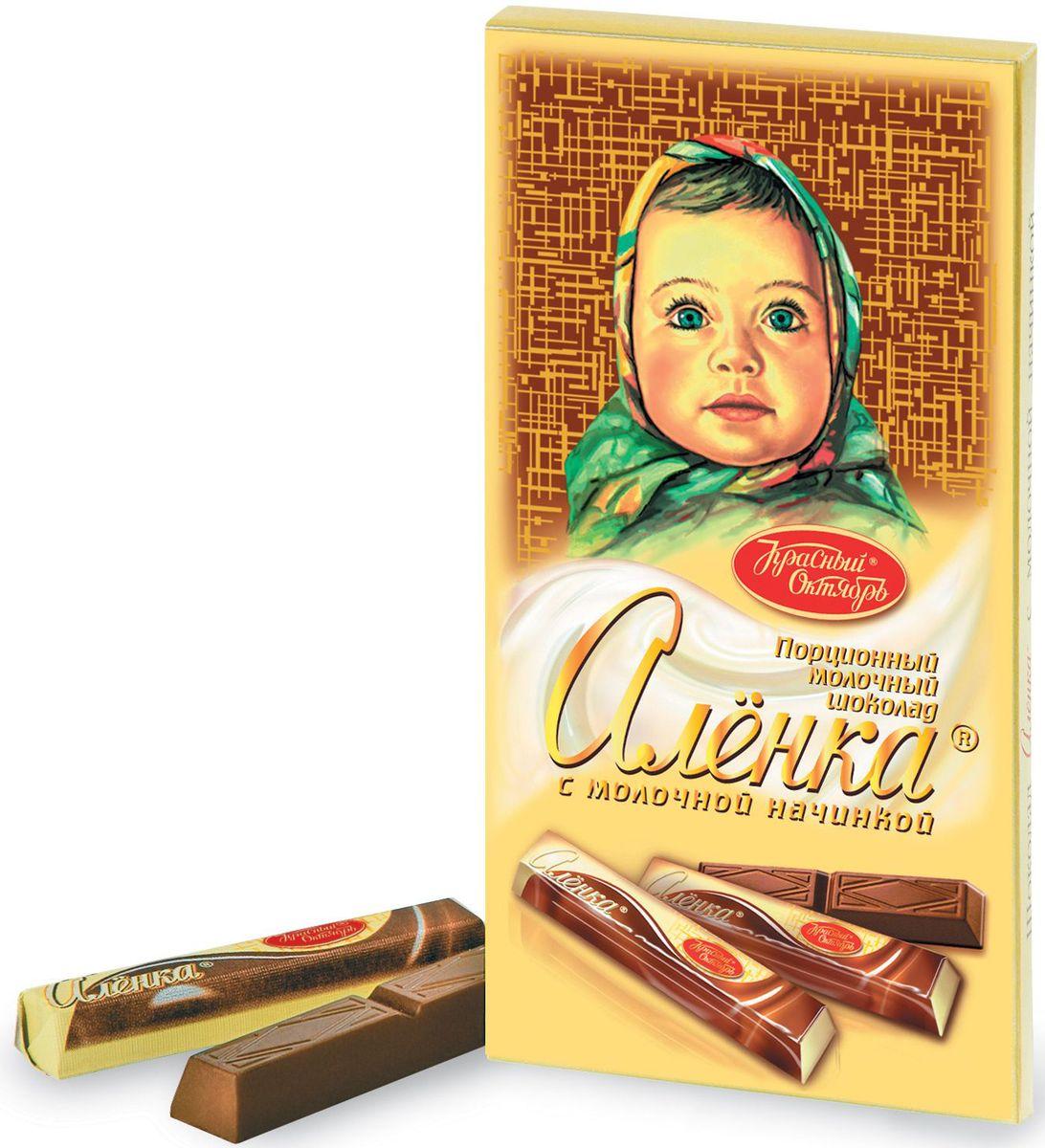 Красный Октябрь Аленка в стиках с молочной начинкой молочный шоколад, 100 гКО07820Знаменитый шоколад Алёнка выпускается кондитерской фабрикой Красный Октябрь.