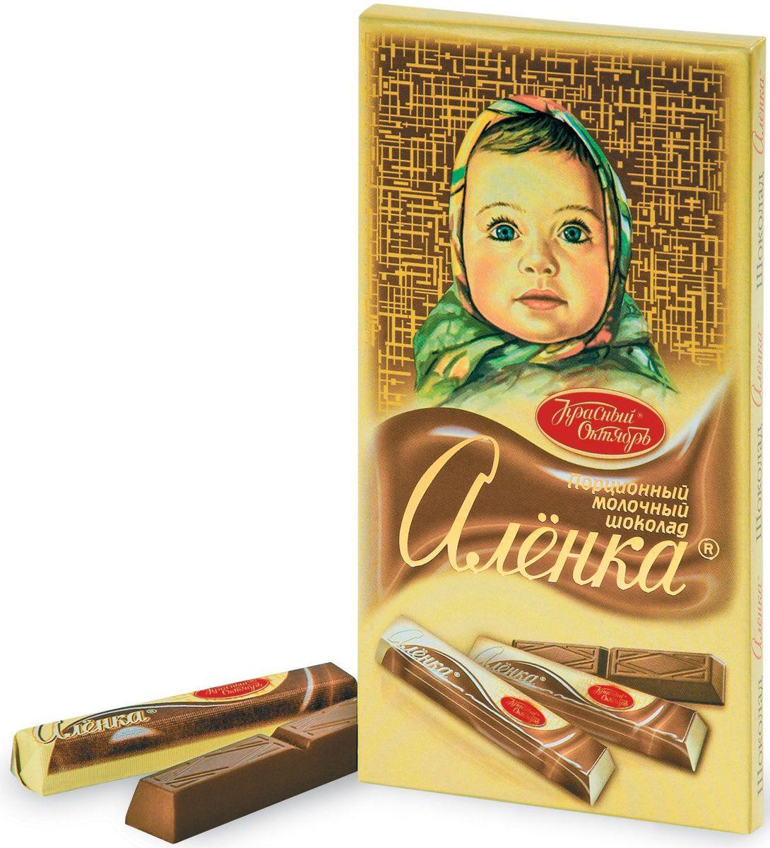 Красный Октябрь Аленка в стиках молочный шоколад, 100 гКО07825Знаменитый шоколад Алёнка выпускается кондитерской фабрикой Красный Октябрь.