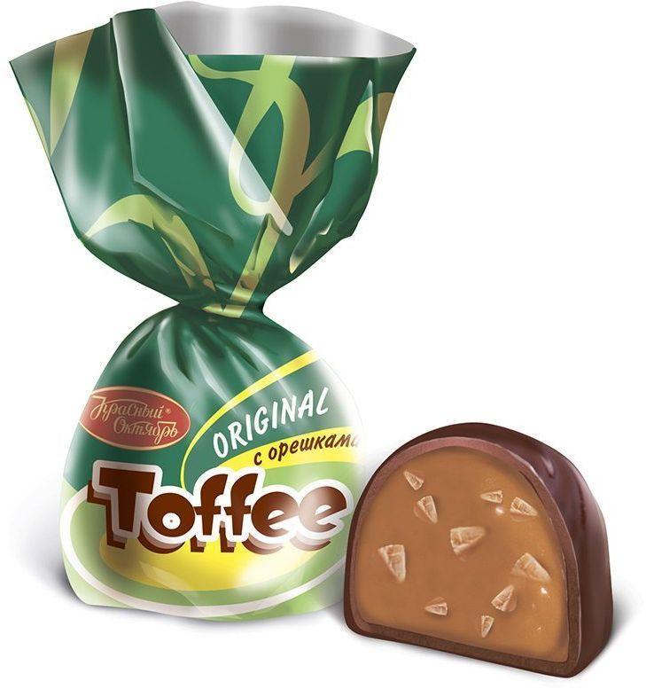 Красный Октябрь Toffee Original конфеты с орешками в шоколадной глазури, 250 г0120710Знаменитые московские конфеты, напоминают Вкус Детства!
