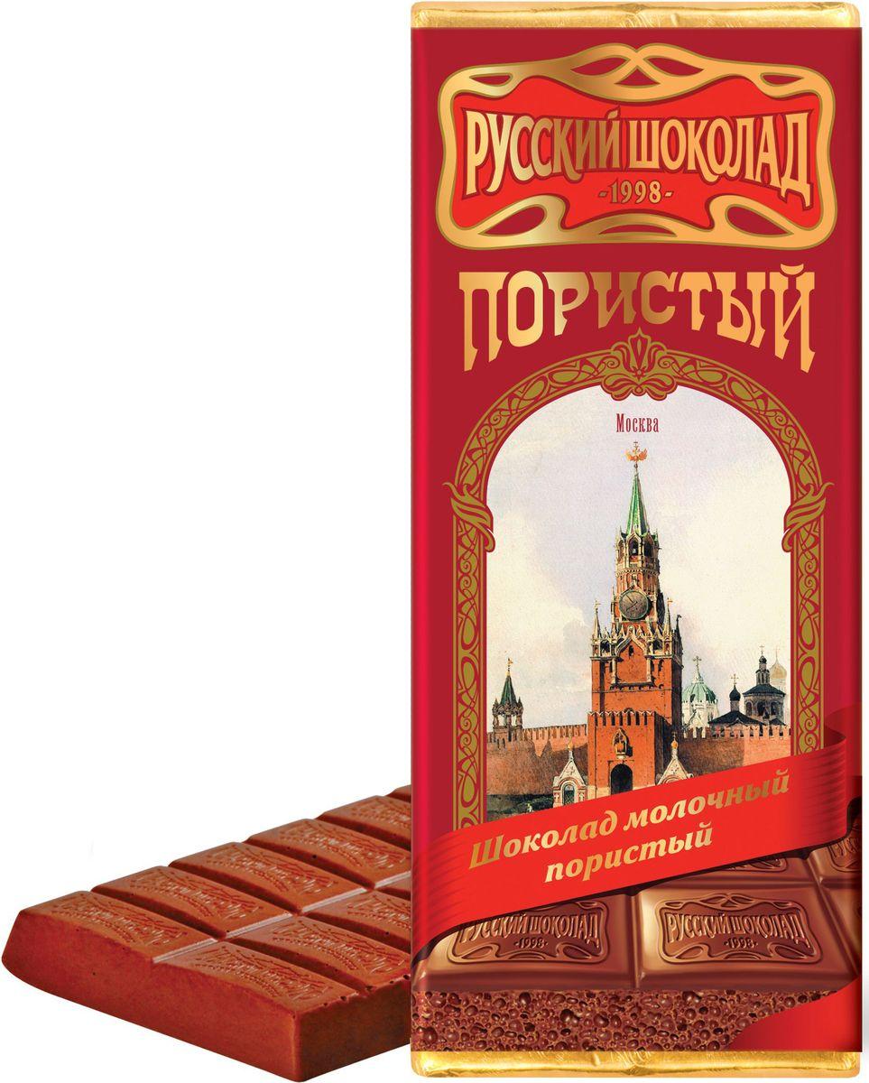 Русский шоколад Молочный пористый шоколад, 90 г