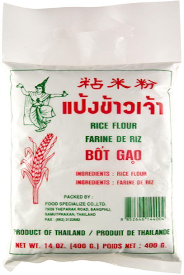 Thai Dancer Мука рисовая, 400 г0120710Рисовая мука используется как полезная и вкусная замена пшеничной муке. На самом деле, при приготовлении десертов, хлеба и различных блюд индийской, китайской, тайской, вьетнамской, японской кухни лучше использовать именно рисовую муку (или кукурузную в некоторых случаях), потому что с ней блюда получаются вкуснее. Также из рисовой муки готовят бумагу для роллов.Польза рисовой муки: рисовая мука - это ценный белковый продукт. В ее состав входят минеральные вещества, микроэлементы, а также витамины, это делает ее весьма полезной как для детей, так и для взрослых. В рисовой муке нет клейковины и глютена. Это дает возможность употреблять ее в пищу даже людям, страдающим аллергией.