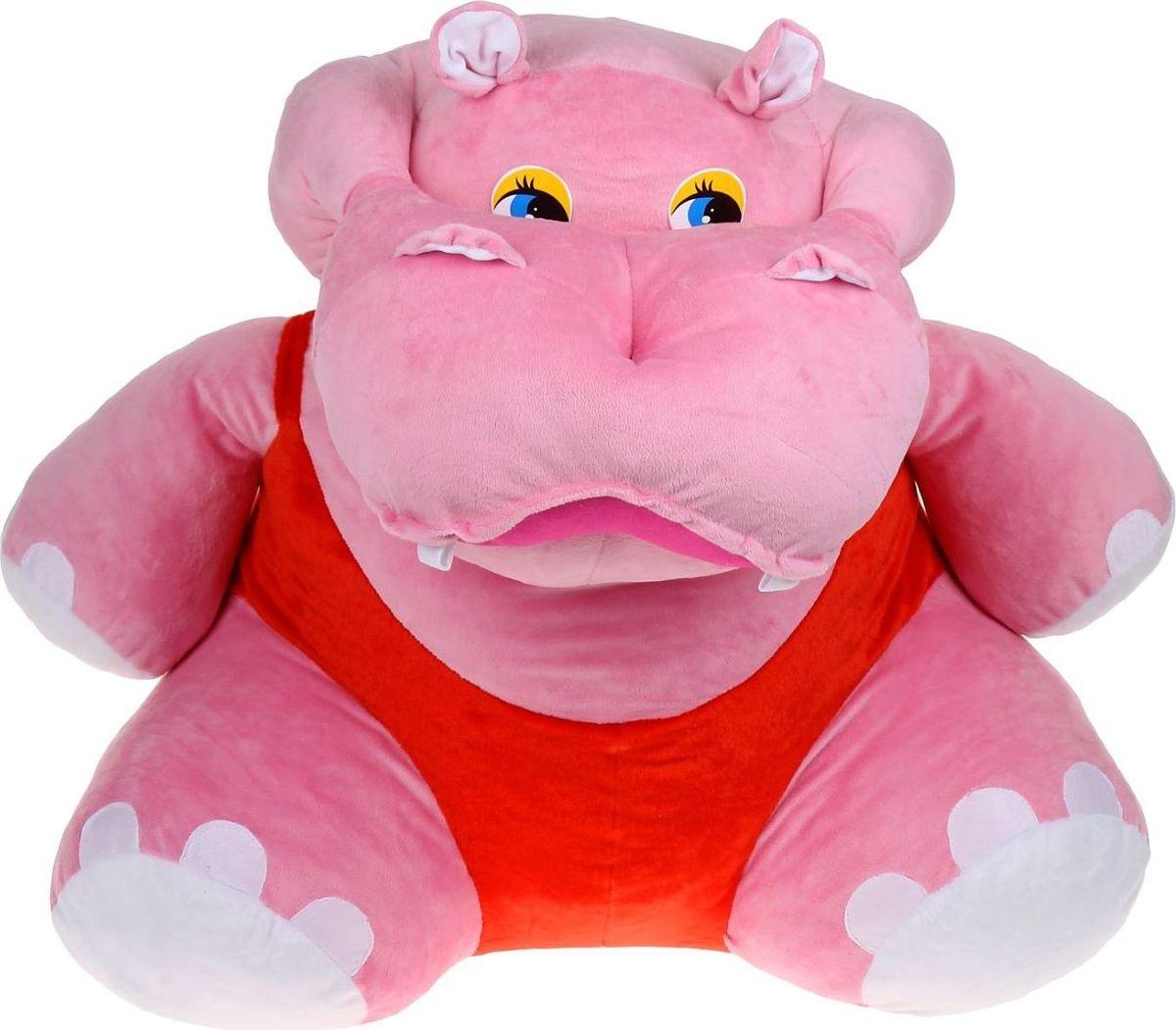 Orange Toys Мягкая игрушка Бегемот большой цвет розовый 80 см hansa бегемот 80 см