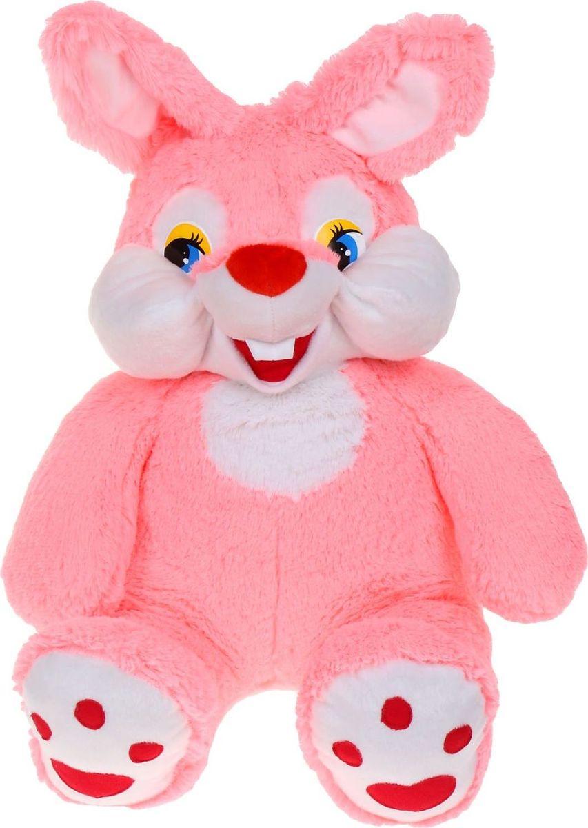 Флиппер Тойз Мягкая игрушка Зайка-зазнайка цвет розовый 80 см флиппер тойз мягкая игрушка черепаха тортила 70 см 632416