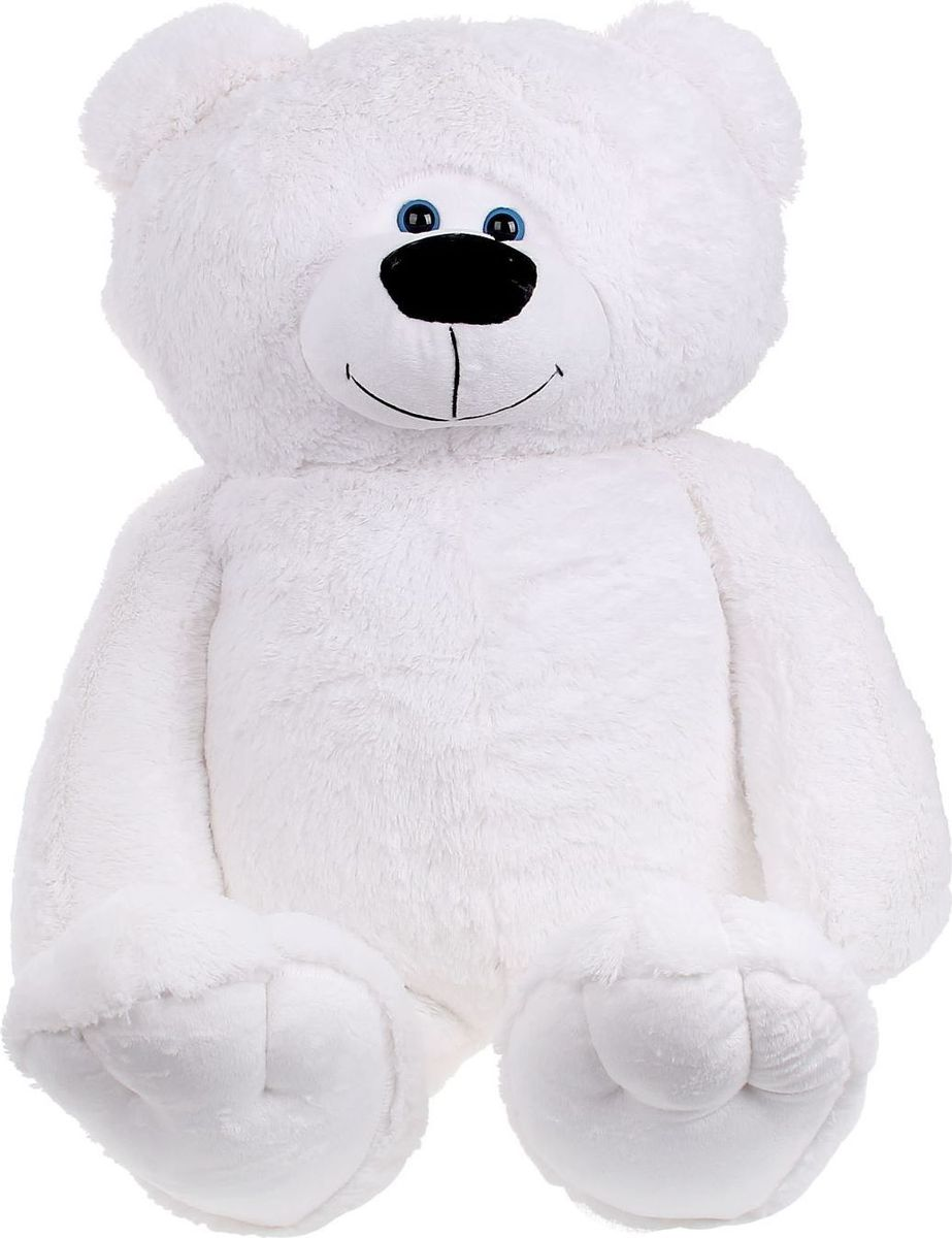 Sima-land Мягкая игрушка Мишка Веня цвет белый 75 см