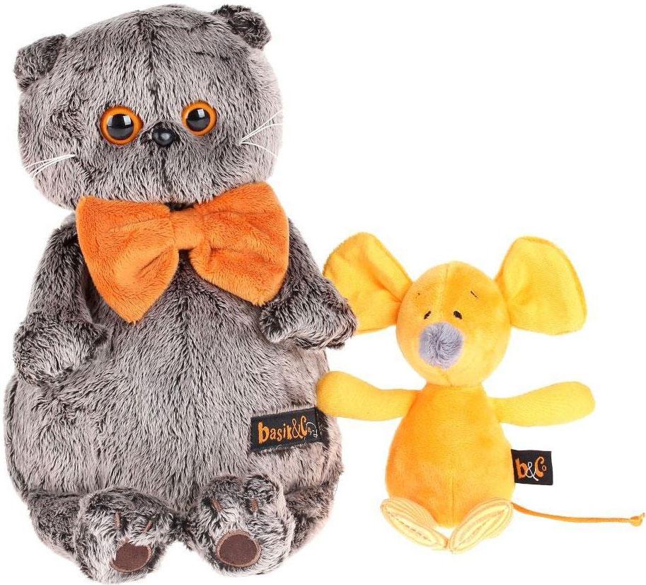 Басик и Ко Мягкая игрушка Басик с мышкой Миленой 30 см пальто басик