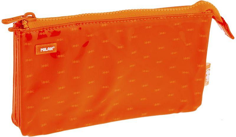 Milan Пенал-косметичка Look 2 цвет оранжевый17940Пенал Milan Look 2 станет не только практичным, но и стильным школьным аксессуаром.Пенал выполнен из прочных материалов и закрывается на пластиковую тракторную застежку-молнию. Состоит из 5 вместительных отделений, в которых без труда поместятся канцелярские принадлежности.Такой пенал-косметичка станет незаменимым помощником для школьника, с ним ручки и карандаши всегда будут под рукой и больше не потеряются.