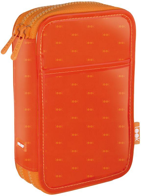 Milan Пенал Look цвет оранжевый 081264LKO081264LKOПенал с двумя отделениями. Размер – 200x125x50 мм. Материал - полиэстер. Поставляется с наполнением: фломастеры 18 цветов (серия 631), цветные карандаши 12 цветов (серия 231), два ластика, автоматическая ручка, точилка, чернографитный карандаш HB, линейка 15 см. Материал - матовый ПВХ, подкладка - 100% полиэстер. Пластиковая тракторная застежка - 5 мм.