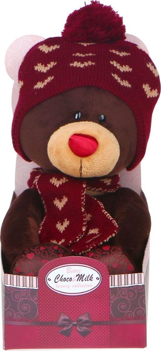 Zakazat.ru Orange Toys Мягкая игрушка Choco сидячий в вязаной шапке с сердечками 30 см