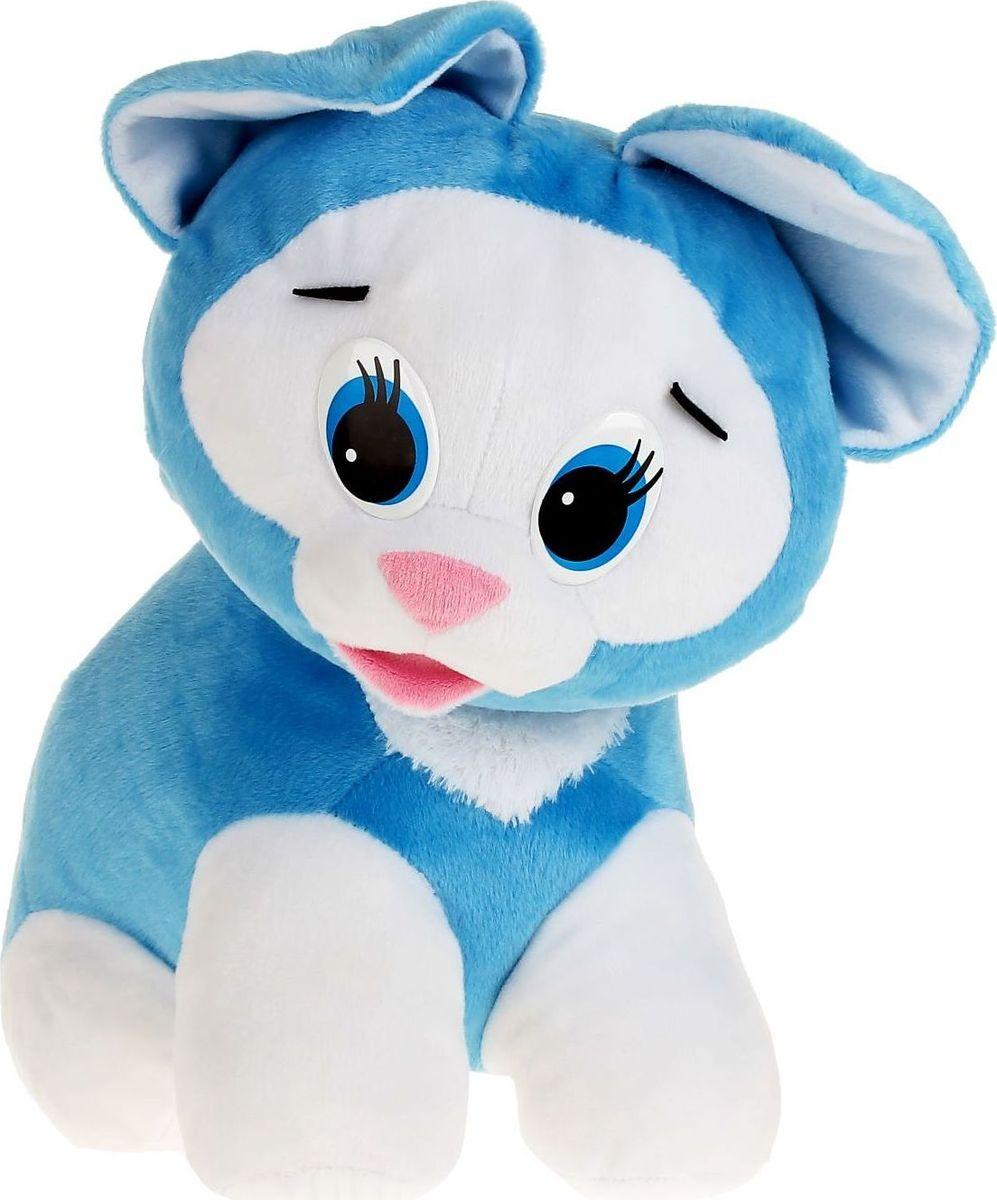 Sima-land Мягкая игрушка Котенок цвет голубой 50 см sima land мягкая игрушка зайка ми в шапке с сердечком цвет голубой 15 см 871962